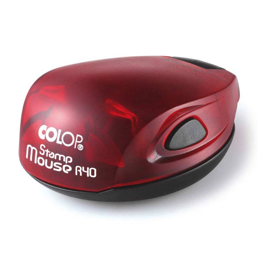 Colop Stamp Mouse 40 rund rot - rot